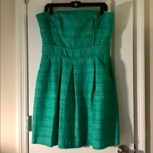 Banana Republic strapless dress with pockets